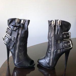 Giuseppe Zanotti peeptoe Stiletto heel ankle boots